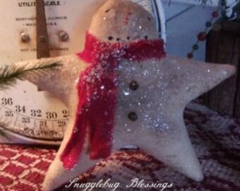 Primitive Little Snow Flake Cupboard Tuck Ornie - Hafair, OFG