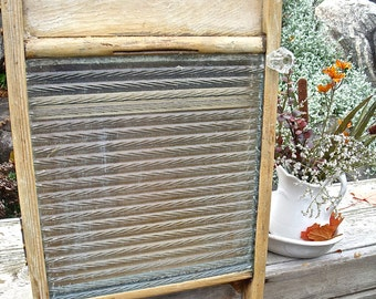 "GLASS WASHBOARD CABINET-""My True Rescue Story""-REcycled antiQue-oLD gLass knob-Gr8T Medicine Cabinet / Spice Cupboard /Dressing room cabinet"