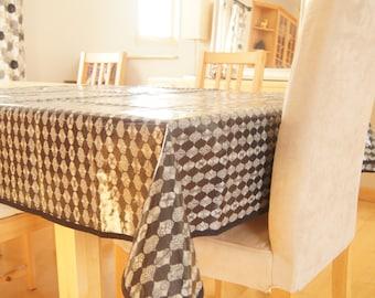 laminated cotton tablecloth etsy. Black Bedroom Furniture Sets. Home Design Ideas