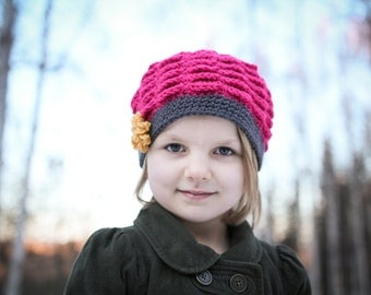Crochet Hat Pattern - Vintage Scalloped Hat (Sizes Newborn to Adult)
