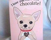 Chocolate Chihuahua Greeting Card