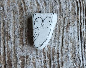 Beach Pottery Owl - Totem, Animal Medicine, Spirit Animal, Peace, Joy, Calm
