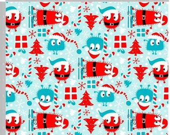 Limited Edition Jersey Xmas Holiday Ooga Booga Cotton Lycra By The Yard
