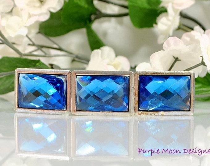 Blue Crystal Barrette Hair Jewelry For Women