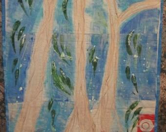 Art Quilt Walll Hanging Full Moon Sebastopol