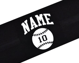 Softball Headband Personalized with Your CUSTOM Name and TEAM Colors by Funny Girl Designs - Quantity Discounts Available!