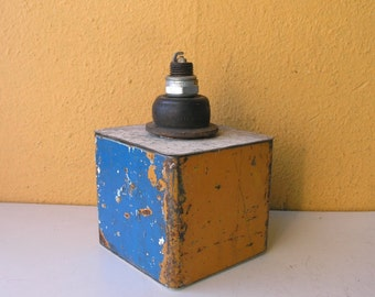Trinket Box, Junk Box, Industrial Pipe, Shelf Decor, Upcycled Metal Box, Industrial Mancave Decor, Stash Box, Desktop Organizer