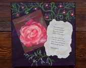 Roses - painting with poem