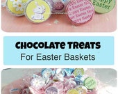 Easter Hershey Kiss tags, Easter Bunny, Easter Basket, Easter Egg Hunt, Hershey Kiss Tags, Office Treats, Co-workers Treats