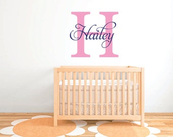 Personalized girls name wall decal, nursery wall decal  DB379