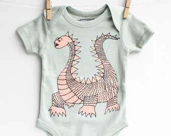 Elliot - Dragon Baby Gift, Organic Cotton Bodysuit, Eco Friendly, Gender Neutral, Baby Gift, Hip Baby Clothing Present for Baby Shower