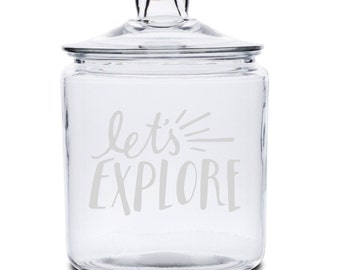 Let's Explore Glass Storage Jar - 1/2 Gallon or 1 Gallon