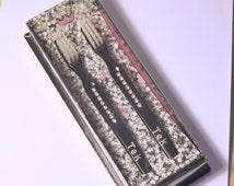 Vintage Set of Tek Toothbrushes - Black with Rhinestones- Original Box - New Old Stock - Vintage Dental Instruments