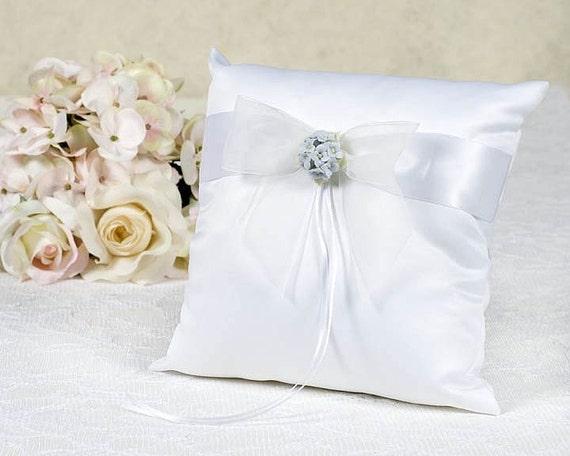 Hydrangea Wedding Ring Bearer Pillow 75725H