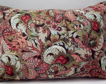 Lavender Buckwheat Pillow -  Balsam Pillow - Autumn Decor - Decorative Leaf Throw Pillow - Lumbar Support - New Mom Nursing Support