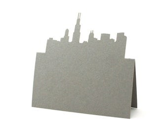 Chicago Place Cards set of 10 - Escort Cards,Wedding Place Cards,City Skyline,Place Cards,Table Numbers,Seating Card,Rustic Wedding,Illinois