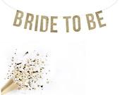 BRIDE TO BE Glitter Garland.  Bridal shower decor. Bachelorette Party. Wedding Shower.