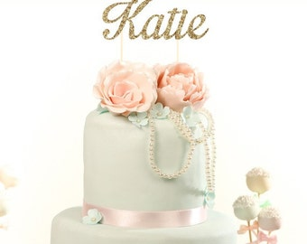 Custom Glitter Cake Topper. Adult Birthday. Girl Birthday. Baby Shower. Wedding Shower. Celebration