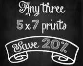 Choose Your Own Set of Three 5x7 Prints - Save 20% on Set of Three Fine Art Photographs - Dreamy Photography - Personalized Home Decor