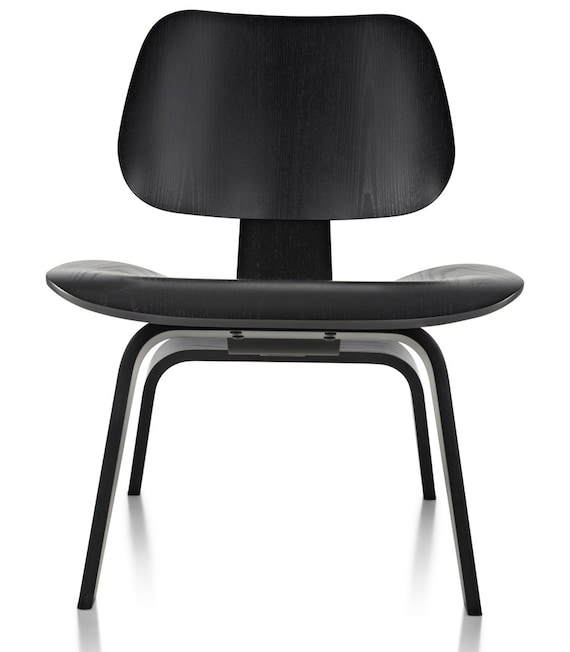 herman miller eames lcw lounge chair wood ebony black mid century