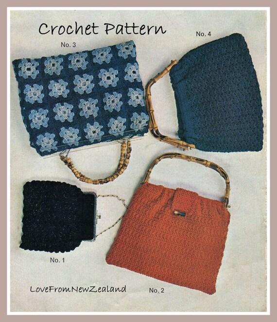 Crochet Evening Purse Pattern : PDF Crochet Pattern /4 Crocheted Evening by LoveFromNewZealand