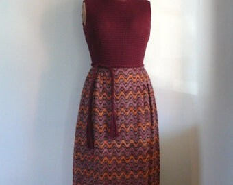 1960s Plum Knit dress