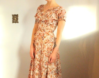 1950s Party Dress // spring floral dress