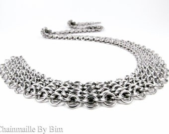 Chainmaille Necklace - Flat Fitted Style