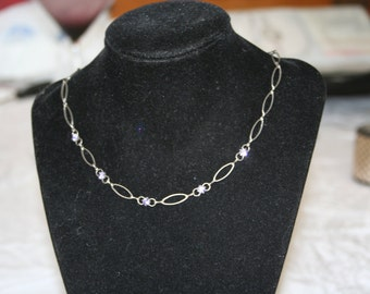 Lavender Rhinestone Necklace
