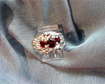 Glamorous Mozambique Garnet Sterling Silver Ring