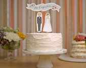 Cake Topper | Wedding Cake Topper | Bride and Groom Cake Topper | Banner Cake Topper | Custom Wedding Cake Topper | Names Cake Topper