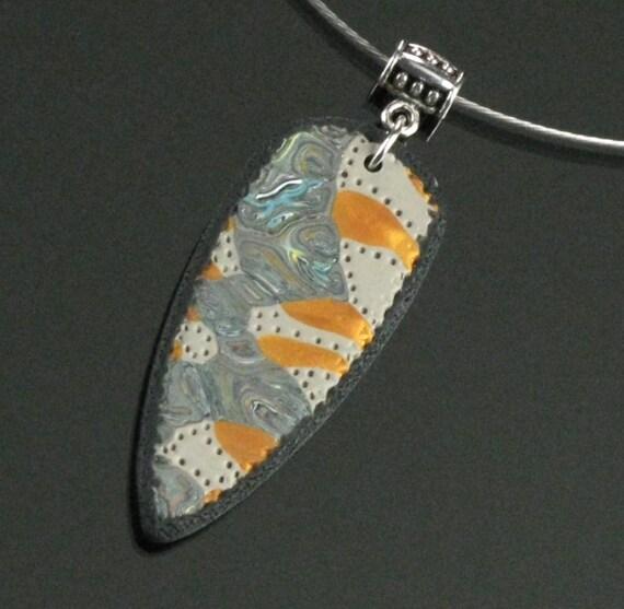 Mokume Gane Earrings: Tribal Necklace Mokume Gane Tribal Jewelry Polymer Clay
