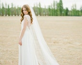 WYNTER Chapel length wedding veil in ivory or white