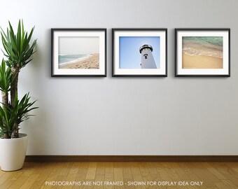 Beach Photography, Save 15%, Minimalist, Minimal Beach Photograph, Nature, Landscape, Blue, Ocean Art, Beach Art, Beach Decor, Set of Three
