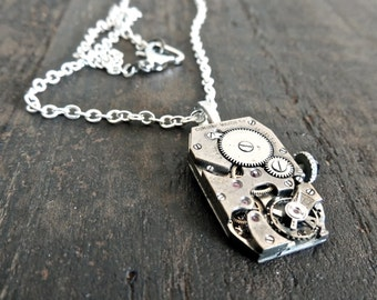 Steampunk necklace / Watch movement necklace