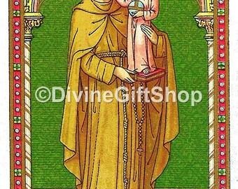 "Icon St. Anthony. 5"" X 7"" Print. Beautiful Icon Image of Saint Anthony with Child Jesus."