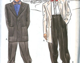 Retro Simplicity 8879 Mens Zoot Suit, Gangster Costume or Tuxedo Sewing Pattern - Size 46-52