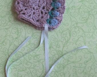 Tulip Baby Bonnet - Lilac