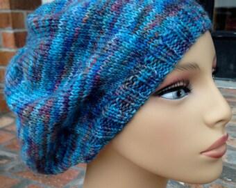 Blue Bubblegum Knitted Beret