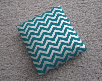 Magic Wallet, Chevrons, Teal and Silver Chevrons Mini Magic Wallet, pocket wallet, cash holder