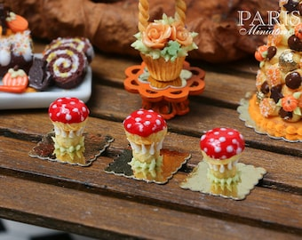 MTO-Fantasy Toadstool Religieuse for Autumn/Fall - 12th Scale French Miniature Food