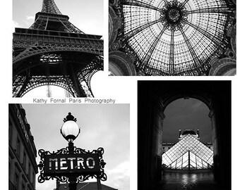 Paris Photography, Paris Black and White Photography, Paris Black White Prints Set, Paris Architecture, Paris Wall Decor, Paris Wall Prints