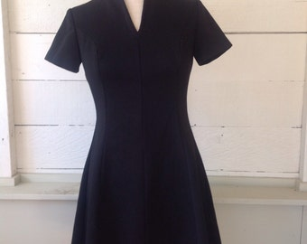 60s Mod Little Black Dress Perfect Shift M