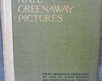 Kate Greenaway Pictures book, 1921 Kate Greenaway, Greenaway sketches book, limited edition book, 1st edition Greenaway, printed in England