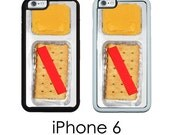 iPhone 6S 6 or PLUS Cheese and Crackers Phone Case  Funny Snack Case Your Choice of Trim Hard, Rubber or Tough Cases