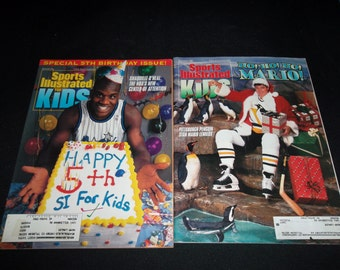 Two Sports Illustrated For Kids Mario Lemieux Shaquille O'Neal 1993 1994