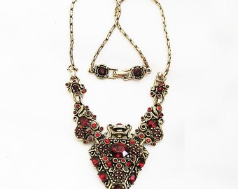 Hollycraft Red Verified and Unsigned Bottle Necklace