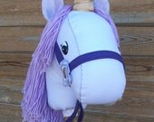 """MADE TO ORDER Classic Collection """"Purple Unicorn"""" Stick Horse or Pony Ready to Ride"""