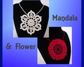 Crochet a Necklace: Mandala & Flower - Tutorial How-to Pattern Kindle PDF or ePub Instant Download