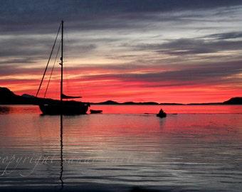 Sailboat at Sunset A Fine Art Photograph